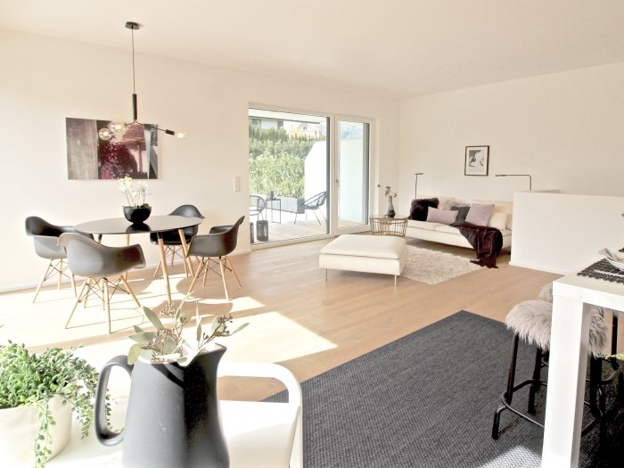 Real Estate in 5020  Salzburg : AIGEN - FIRST-TIME OCCUPANCY: 145 sqm, 4-room garden apartment with 185 sqm of private ground! - Picture 1