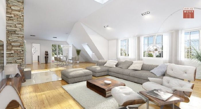 Real Estate in 1180  Wien : COTTAGE DISTRICT - 18TH DISTRICT: Spacious loft apartment with old Viennese flair - Picture 1