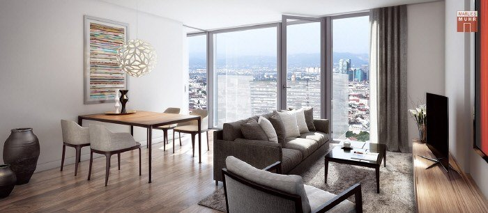 Real Estate in 1100  Wien : MODERN LIVING WITH DISTANT CITY VIEWS - Picture 1