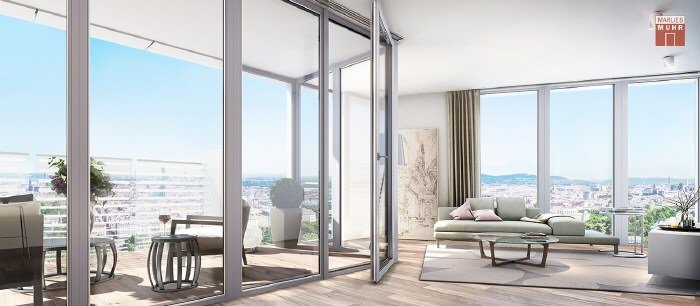 Real Estate in 1100  Wien : APARTMENT WITH VIEWS OVERLOOKING VIENNAÂ'S SKYLINES - Picture 1