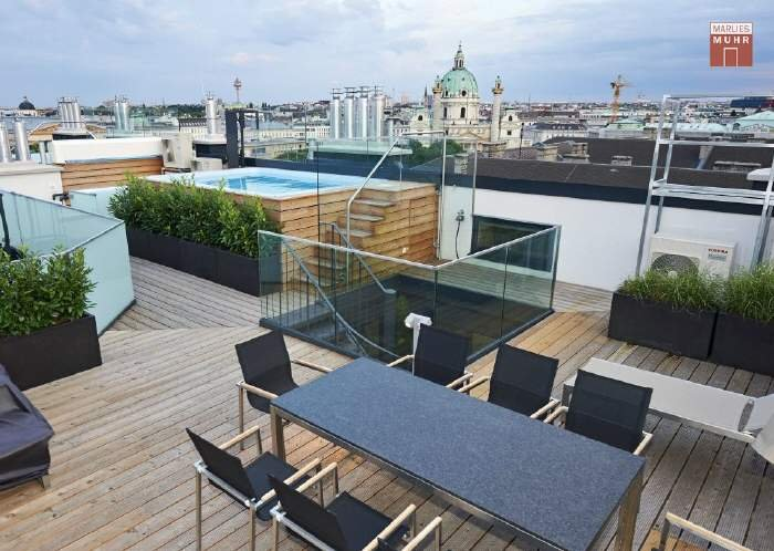 Real Estate in 1010  Wien : Top luxury class: Penthouse apartment with pool new the Staatsoper - Picture 1