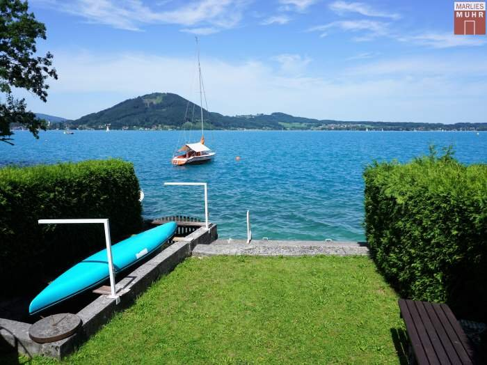 Real Estate in 4852  Weyregg am Attersee : RARITY ON ATTERSEE - SECONDARY RESIDENCE DEDICATION: Fabulous 638 sqm plot of land with old stock and private lake ground! - Picture 1