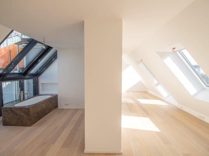 Immobilie in 1020  Wien : PERFEKTE KULISSE AUF DEN AUGARTEN: 3 Zimmer Dachterrassen-Wohnung für Individualisten - Bild 1