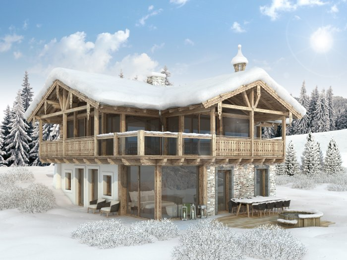 Real Estate in 5731 Hollersbach : Hollersbach: exclusive holiday chalet with designer furnishings - Picture 1