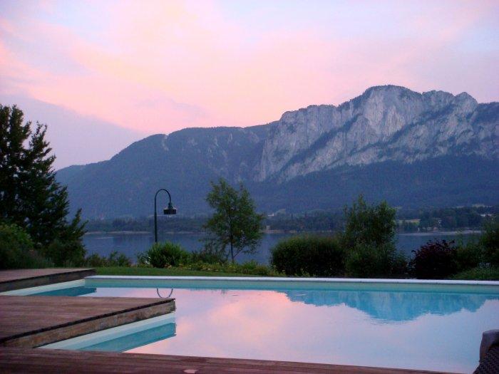 Immobilie in 5310  Mondsee : Villa mit gigantischem Blick auf den Mondsee und in die umliegenden Bergwelt  - Bild 1