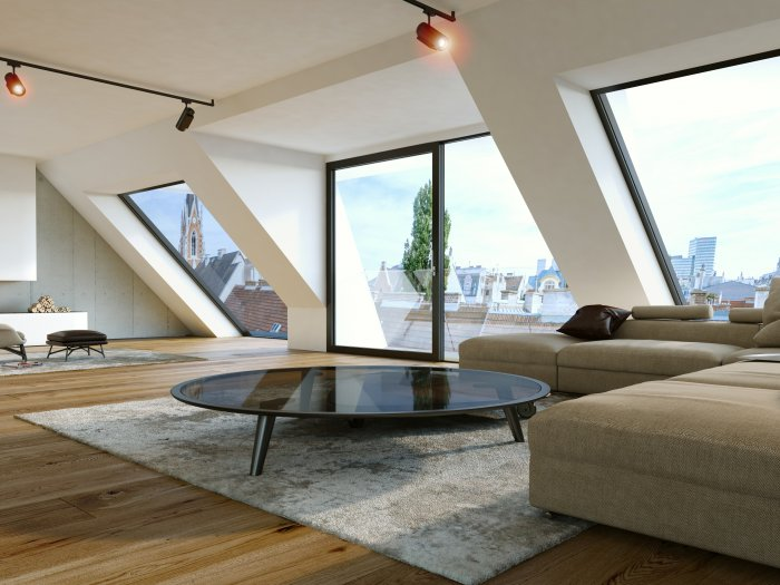 Immobilie in 1040 Wien : Exklusives Wohnen: Hervorragendes Dachgarten-Penthouse im 4.Bezirk!  - Bild 1