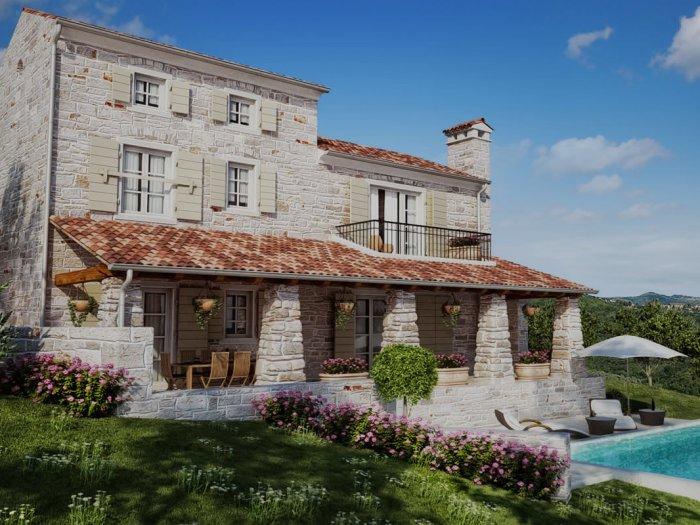 Immobilie in 52424  Motovun : Mediterrane Natursteinvilla mit Pool in prädestinierter Lage - Bild 1