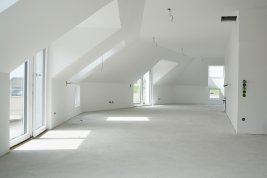 Immobilie in 5300  Hallwang: BEREITS FERTIG GESTELLT - HALLWANG/MAYRWIES: Panorama-Penthouse mit rundum Terrasse in begehrter Stadtrandlage! - Bild