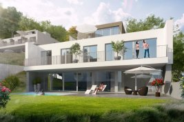 Real Estate in 2371  Hinterbrühl : NEXT DOOR TO NATURE – Newly built villa with pool on the outskirts of Vienna
