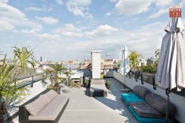 Real Estate in 1090  Wien: Living in the 9th district with views of Vienna: Sunny roof terrace dream near the Volksoper - Picture