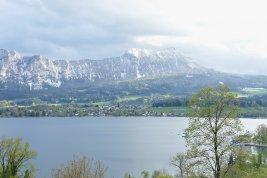 Immobilie in 5310 Mondsee: ENTSPANNTER LUXUS AM MONDSEE: Aussichtsreiche Seeblick-Villa bietet Urlaubsflair das ganze Jahr! - Bild
