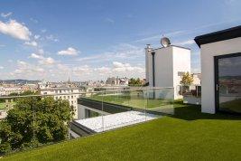 Immobilie in 1040 Wien : 4. BEZIRK: Stilvolles Dachgarten-Penthouse mit Blick über Wien!