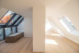 Immobilie in 1020  Wien : PERFEKTE KULISSE AUF DEN AUGARTEN: 3 Zimmer Dachterrassen-Wohnung für Individualisten