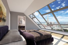 Real Estate in 1030  Wien: QUIET, STYLISH PENTHOUSE APARTMENT WITH UNIQUE VIEWS - Picture