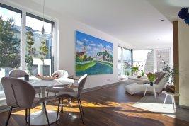 Immobilie in 5020 Salzburg : DESIGNER DG-WOHNUNG  in ZENTRALER STADTLAGE  vis-á-vis zum Salzach-Kai  bietet hohe Lebensqualität!