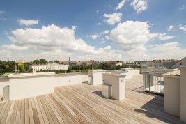 Immobilie in 1020  Wien : Ein schöner Platz an der Sonne: Sonnendurchfluteter Dachterrassentraum in Premiumqualität Nähe Augarten