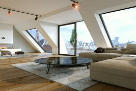 Real Estate in 1040 Wien : 4th district: Stylish roof-garden penthouse with views overlooking Vienna!