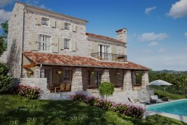Real Estate in 52424  Motovun : Mediterranean natural stone villa with pool in a convenient location