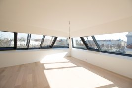 Immobilie in 1020  Wien: CHARME DER SCHRÄGE: 3 Zimmer Neubau-Wohnung im Dachgeschoss - Bild